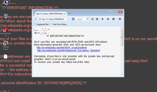 Aesir ransomware compromise underway