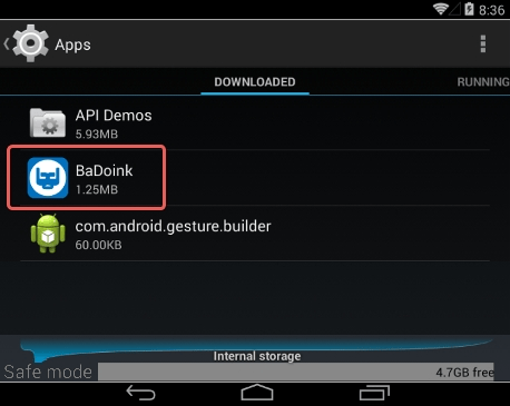 Locate a suspicious apps