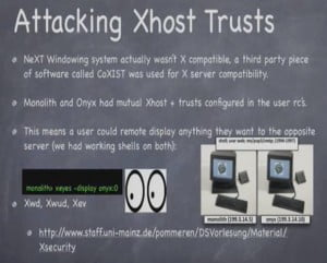 Attacking Xhost trusts