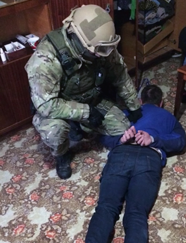 Avalanche ring leader arrested, photo courtesy of the Cyber Police of Ukraine