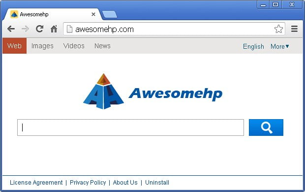 Awesomehp homepage screenshot