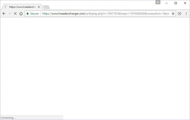 Browser redirect via Liveadexchanger.com in progress