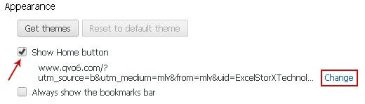 Choose to modify Chrome homepage