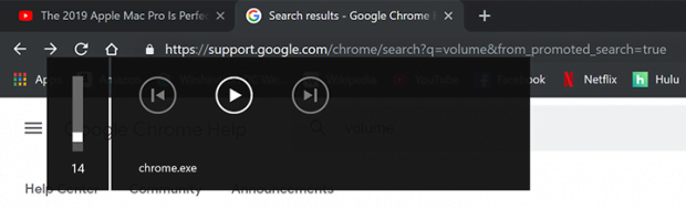 The annoying chrome.exe volume popup in Google Chrome