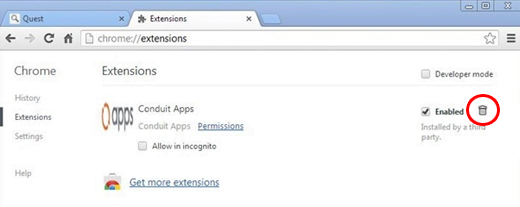 Remove Search Protect related extension from Chrome