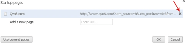 Remove Qvo6 from Startup pages