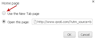 Select the Use the New Tabs page option