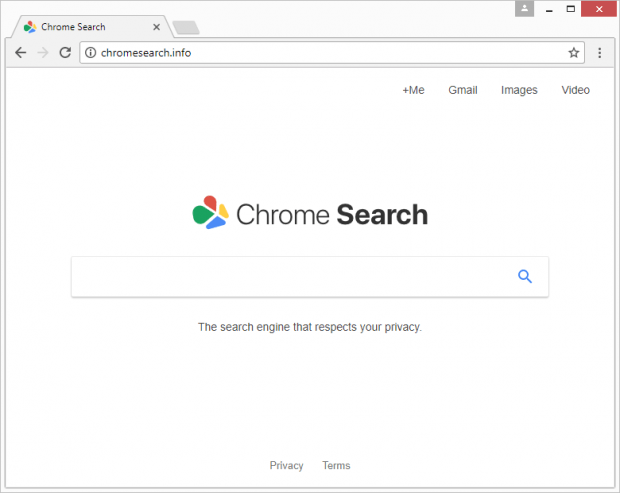 Chromesearch.info page passing itself off as Chrome Search