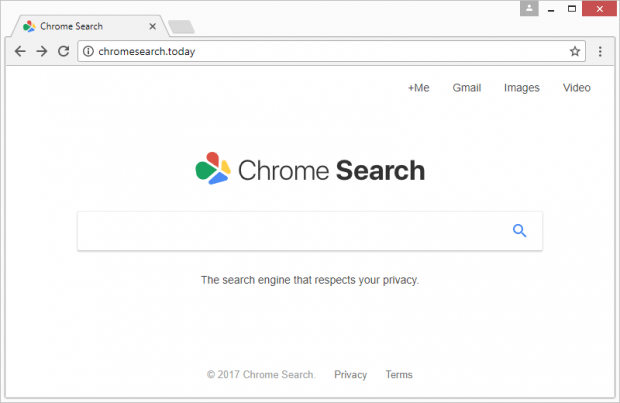 Chromesearch.today mimics a popular search provider