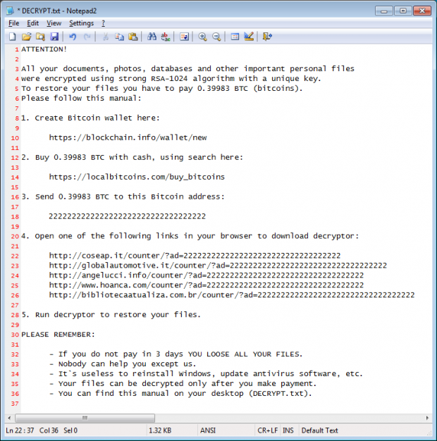DECRYPT.txt manual provided by attackers