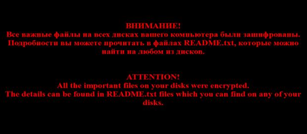 Desktop wallpaper set by the No_more_ransom virus