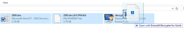Drag and drop file pair onto decryptor GUI