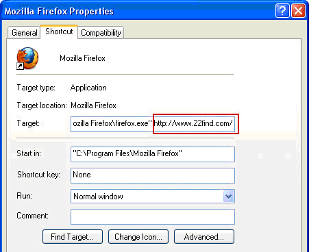 Fix Firefox shortcut