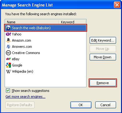 How To Remove Babylon Search - SpywareTechs.com