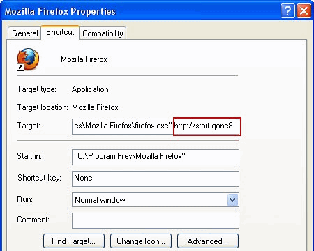 firefox-shortcut-properties