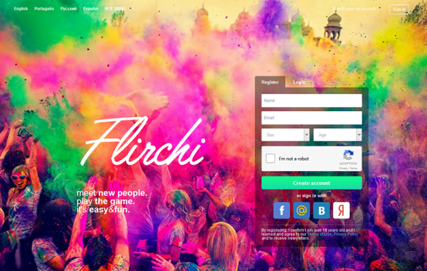 Official page of the Flirchi service