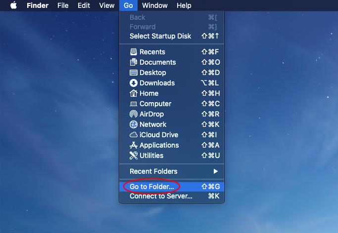 Go - Go to Folder