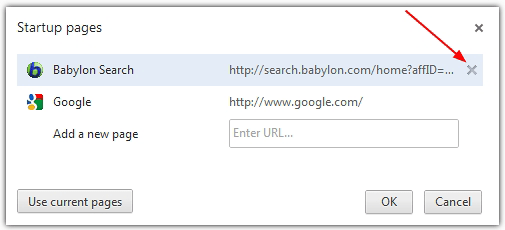 Remove Babylon from Startup pages