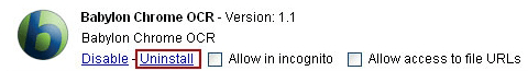 Uninstall Babylon extension from Chrome