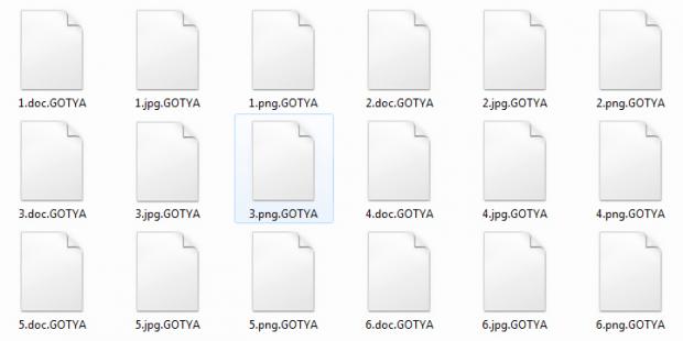 GOTYA files skewed by HC7 virus
