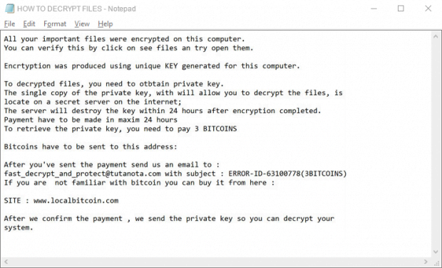 HOW TO DECRYPT FILES.txt ransom how-to added by .fast_decrypt_and_protect@tutanota.com ransomware