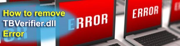 Remove TBVerifier.dll error at computer startup