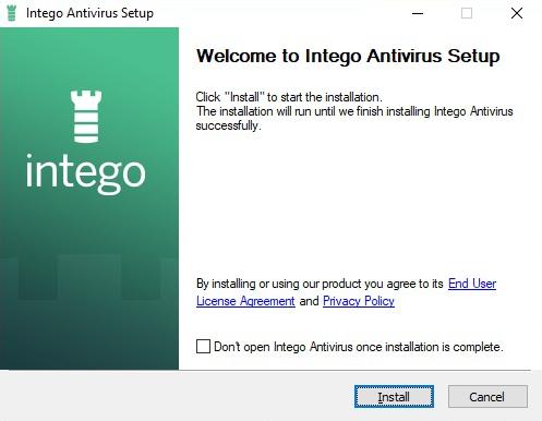 Intego Antivirus installer