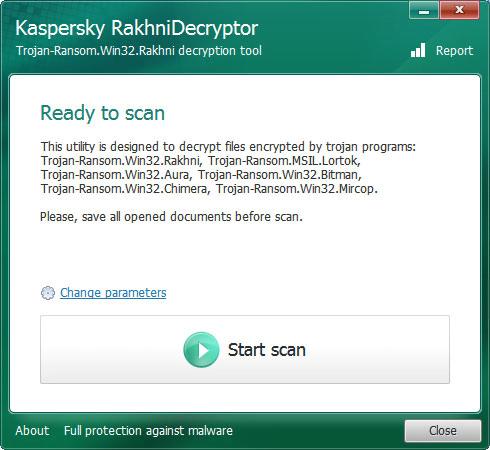 Kaspersky RakhniDecryptor GUI