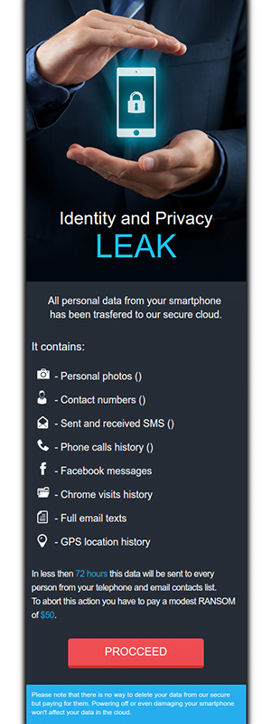 LeakerLocker ransom alert replacing victim's home screen on Android