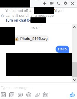 Malicious SVG file sent over Facebook IM chat