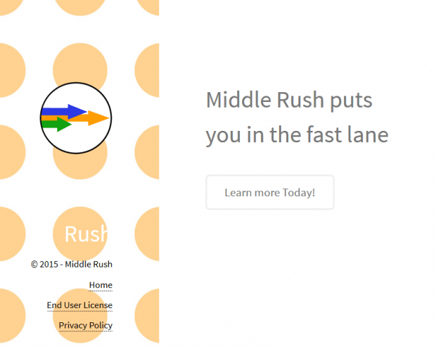 Middle Rush website is not too wordy, obviously