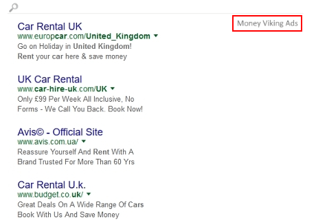 Money Viking ads on search engine results page