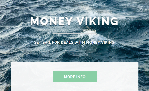 The laconic site for Money Viking
