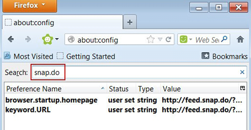Reset Snap.do preferences in Firefox
