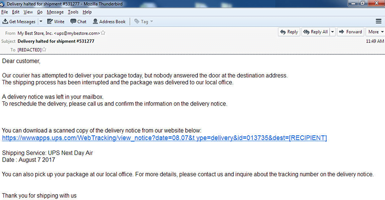 My Best Store Inc  fake emails: ups@mybestore com scam