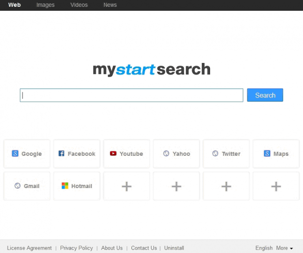MyStartSearch main page
