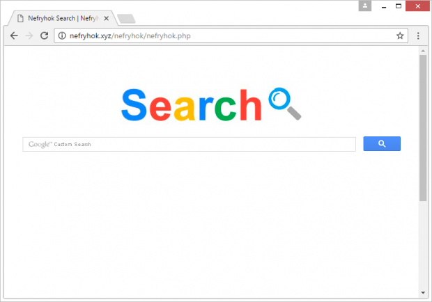 Browser redirect to Nefryhok Search page