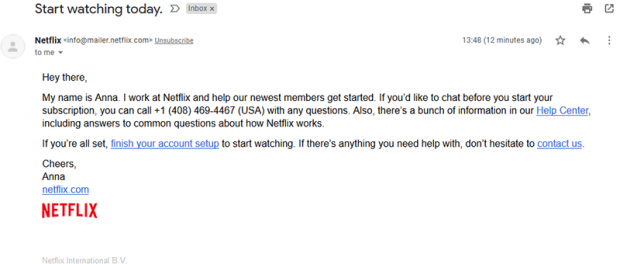 Netflix email scam offering rogue assistance to newbies
