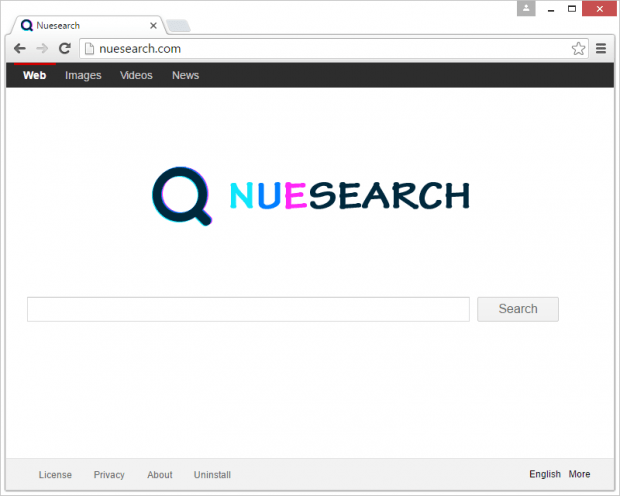 Nuesearch.com takes over web browsers on a PC