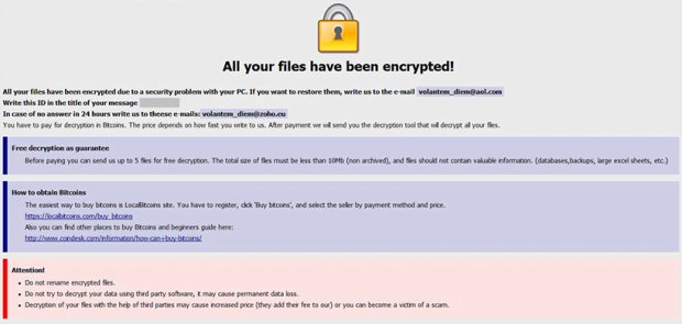 Onion ransomware warning with initial recovery highlights
