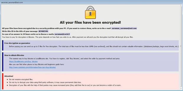 Ransom how-to provided by the .java files ransomware