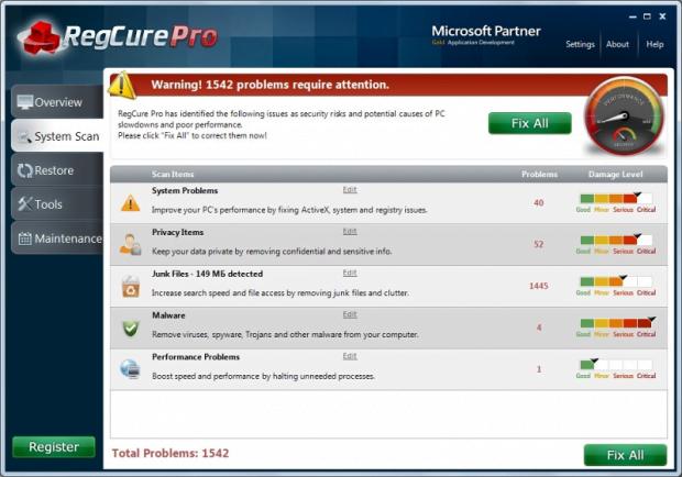 RegCure Pro GUI