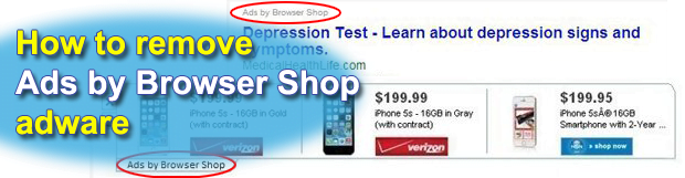 Remove Browser Shop Ads in Chrome, Firefox and Internet Explorer