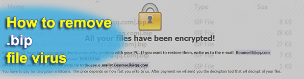 .BIP ransomware decryptor and removal tool