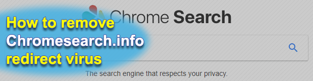 Remove chromesearch.info redirect from Chrome browser