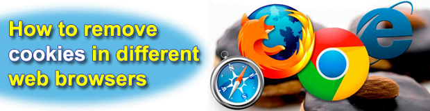 How to remove cookies in Chrome, Firefox, Internet Explorer and Safari browsers
