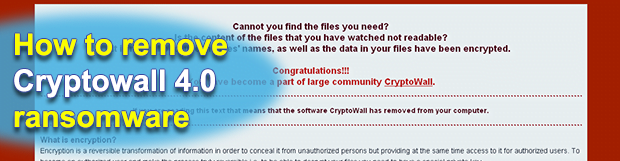 Decrypt Cryptowall 4.0: remove HELP_YOUR_FILES.png virus