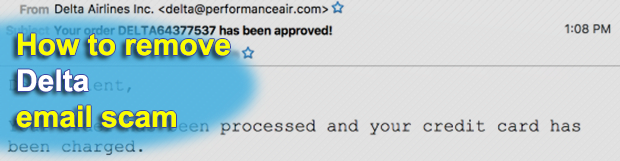 Delta email scam – beware of fake emails from delta@performanceair.com