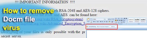 Docm file virus phishing emails spread Zepto ransomware