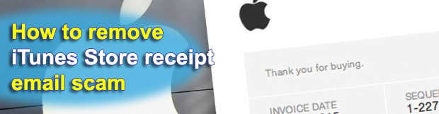 iTunes Store receipt email scam